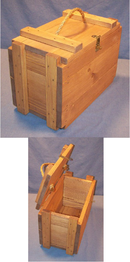 Functional Wooden <br>Furniture <br>- Ammunition Box <br>- 8&quot; x 15&quot; - 10&quot; High